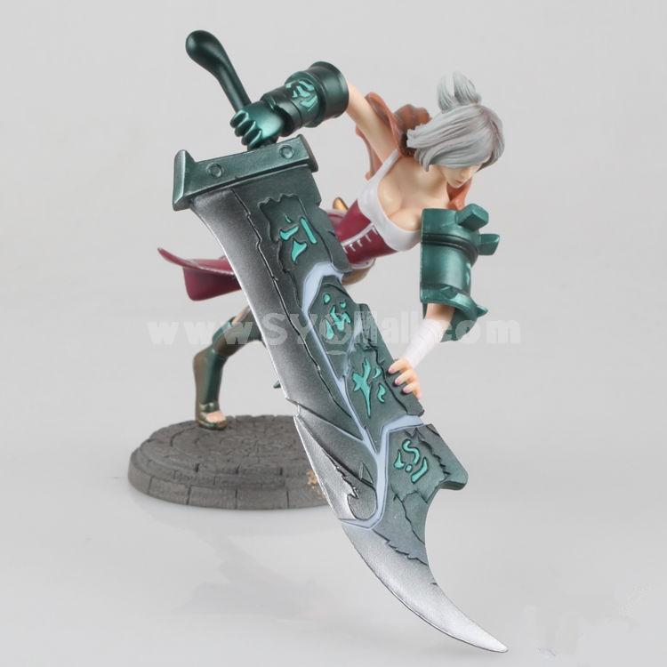 League of Legends LOL Riven Figure Toys 15cm/5.9inch