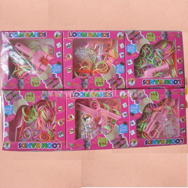 DIY Rubber Band Bracelet Loom Bracelet Refills Children Toy Gift 6 Boxes/Kit
