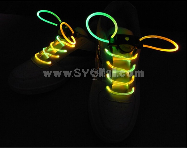 Creative Colorful LED Shining Shoe Lace 1 Pair