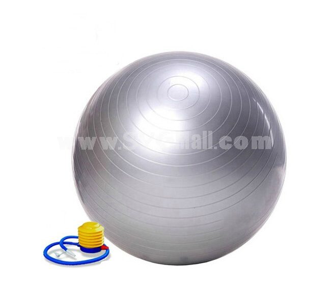 85cm Yoga Ball with Air Pump Health Balance Pilates Fitness Equipment