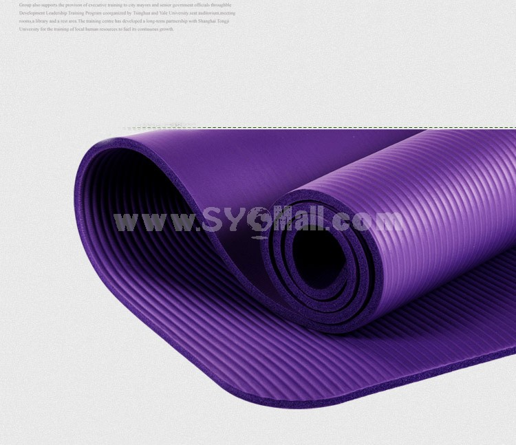 10mm Extra-thick  Moistureproof Single Yoga Mat for Beginners Fitness Blanket