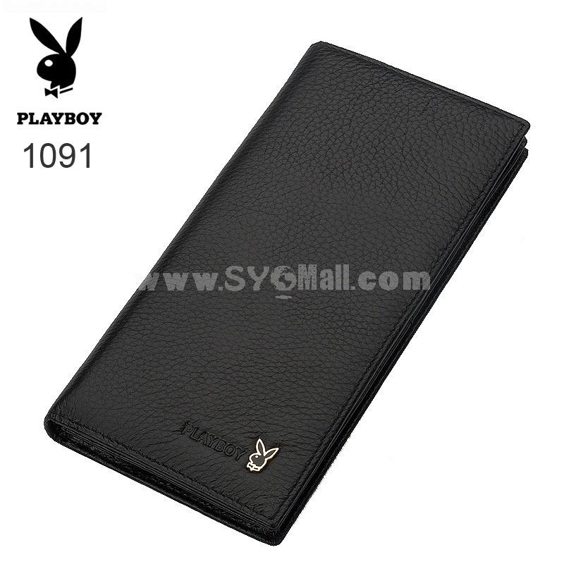 Play Boy Men's Long Leather Wallet Purse Notecase PA001