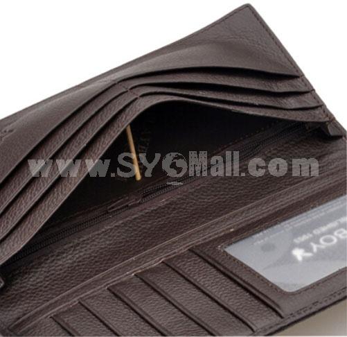 Play Boy Men's Long Leather Wallet Purse Notecase 2841/2351