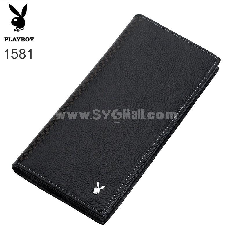 Play Boy Men's Long Leather Wallet Purse Notecase PA002