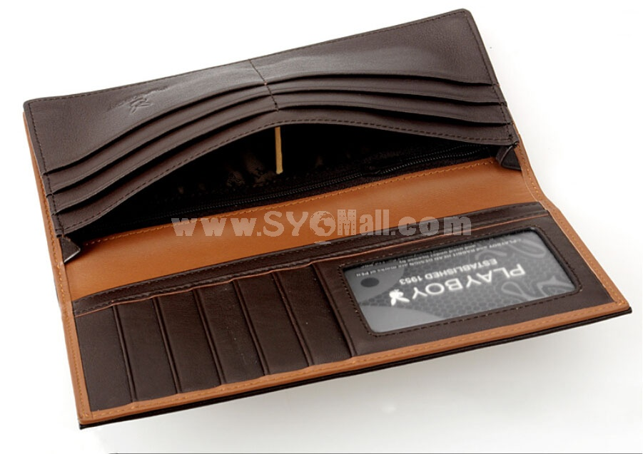 Play Boy Men's Long Leather Wallet Purse Notecase PAA0131-11