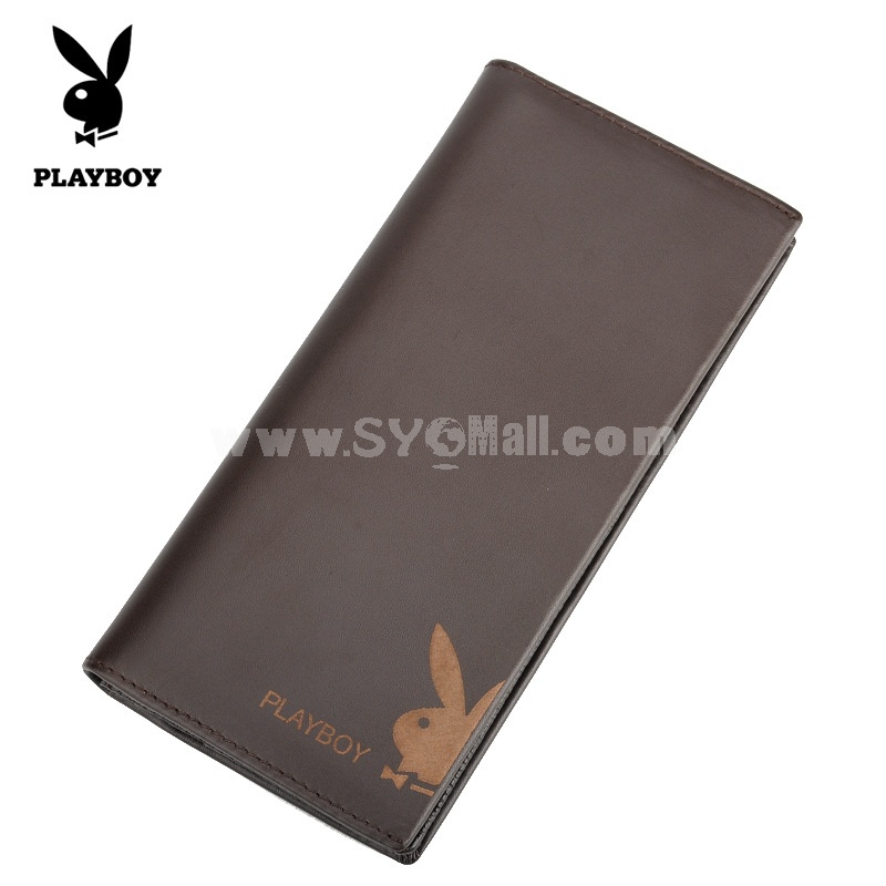 Play Boy Men's Long Leather Wallet Purse Notecase PAA0091-11