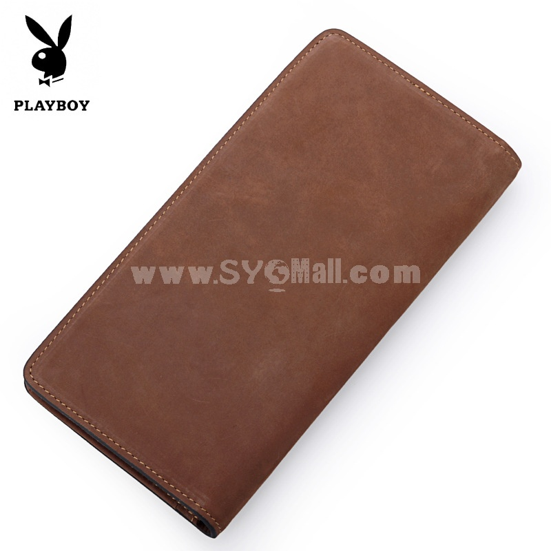 Play Boy Men's Long Leather Wallet Purse Notecase JAA0441-4C