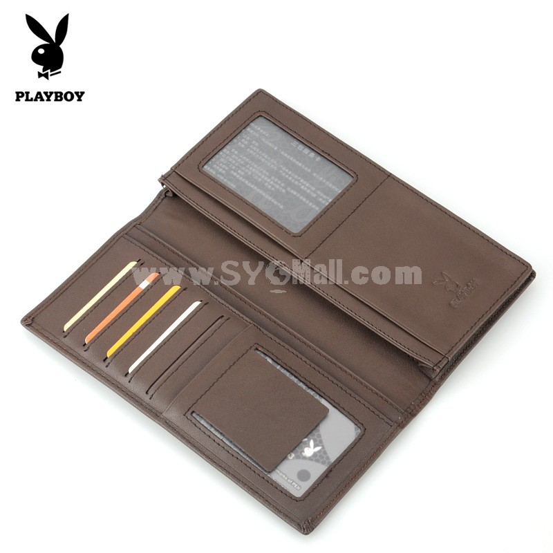 Play Boy Men's Long Leather Wallet Purse Notecase PAA4521-3C