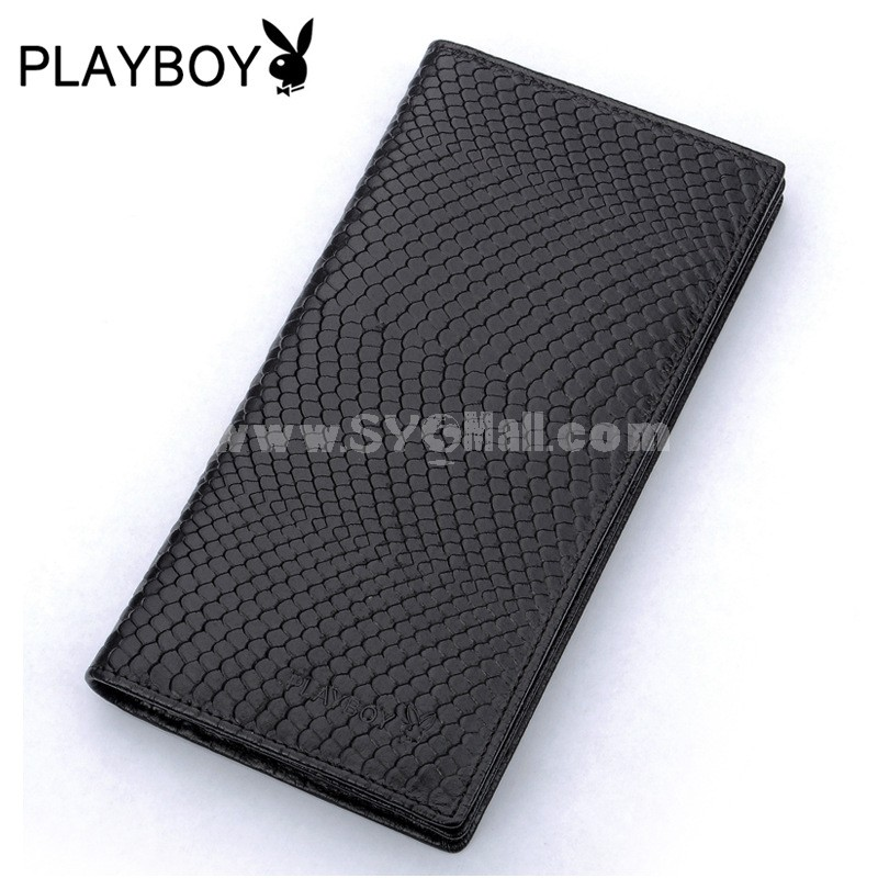 Play Boy Men's Long Leather Wallet Purse Notecase PAA4471-3c