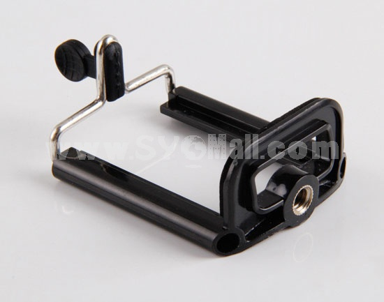 Self-Portrait Monopod with Clip for iPhone Samsung Extendible Monopod for Camera & Phone