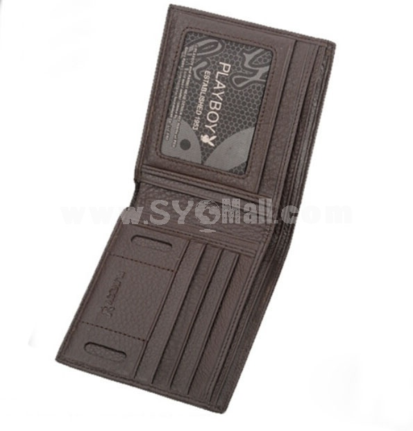 Playboy Men's Short Leather Wallet Purse Notecase PAA0903-11