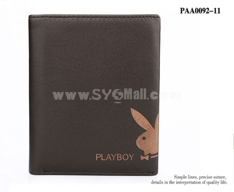 Playboy Men's Short Leather Wallet Purse Notecase PAA0092-11