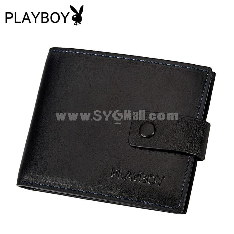 Playboy Men's Short Leather Wallet Purse Notecase PAA4363-3B