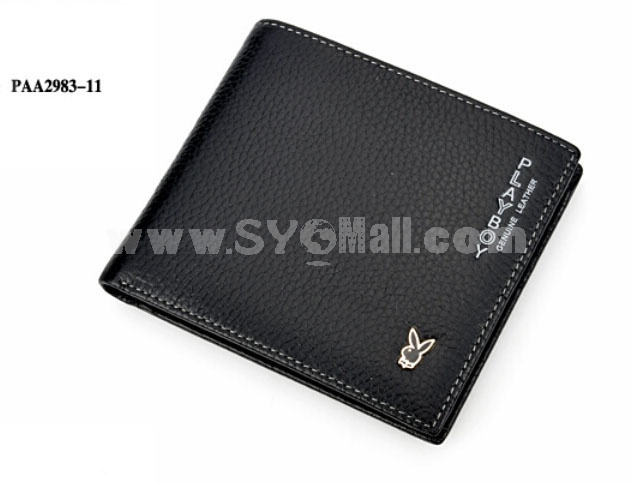 Playboy Men's Short Leather Wallet Purse Notecase PAA2984-11