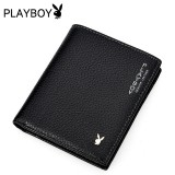 Wholesale - Playboy Men's Short Leather Wallet Purse Notecase PAA2983-11