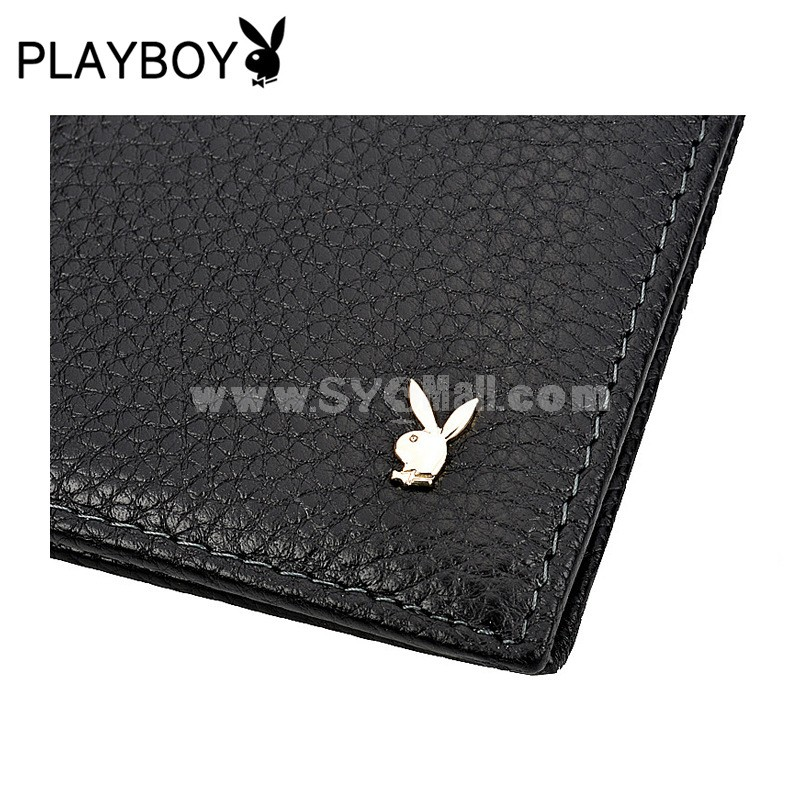 Playboy Men's Short Leather Wallet Purse Notecase PAA2983-11