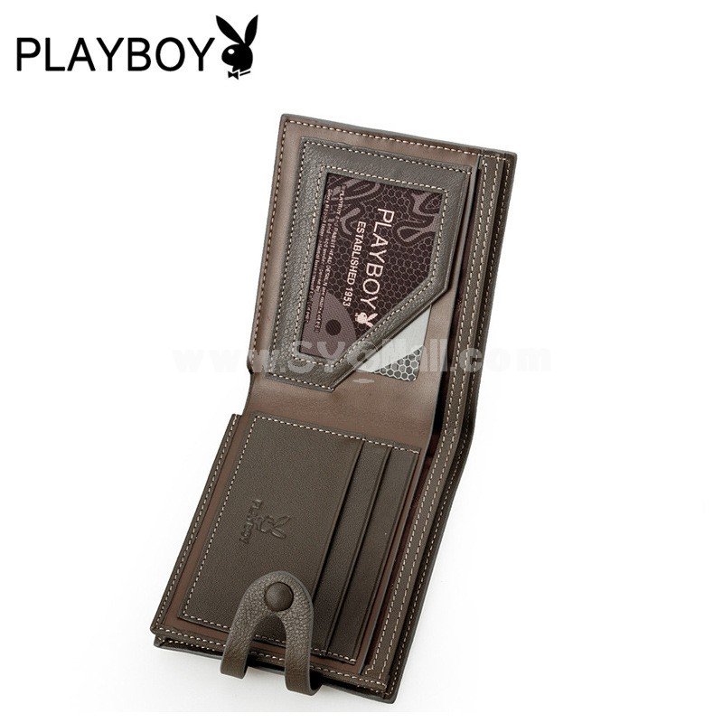 Playboy Men's Short Leather Wallet Purse Notecase PAA4497-11