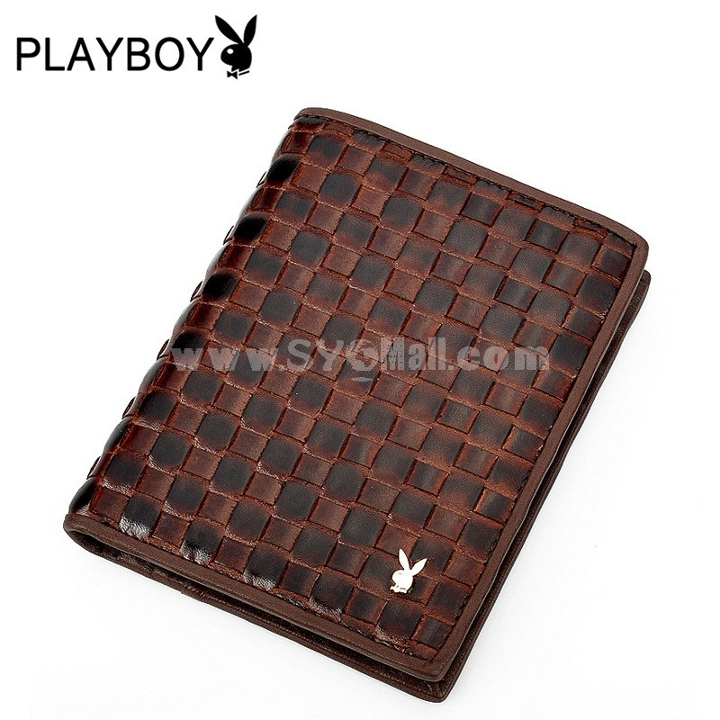 Playboy Men's Short Leather Wallet Purse Notecase PAA2682-11