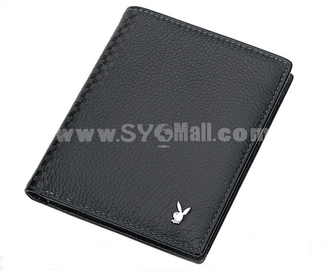 Playboy Men's Short Leather Wallet Purse Notecase 1582