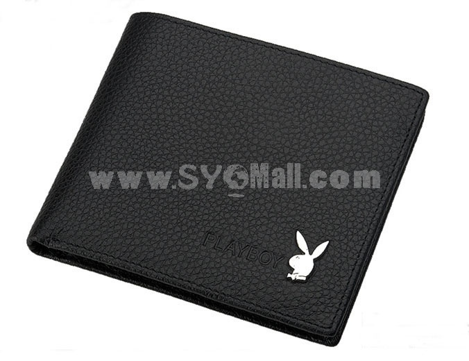 Playboy Men's Short Leather Wallet Purse Notecase 5593