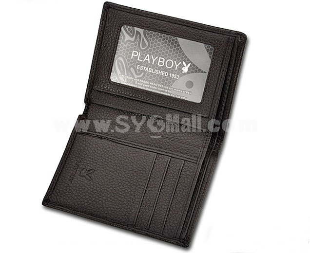 Playboy Men's Short Leather Wallet Purse Notecase 5582