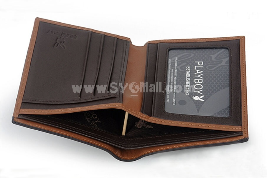 Playboy Men's Short Leather Wallet Purse Notecase PAA0132-11