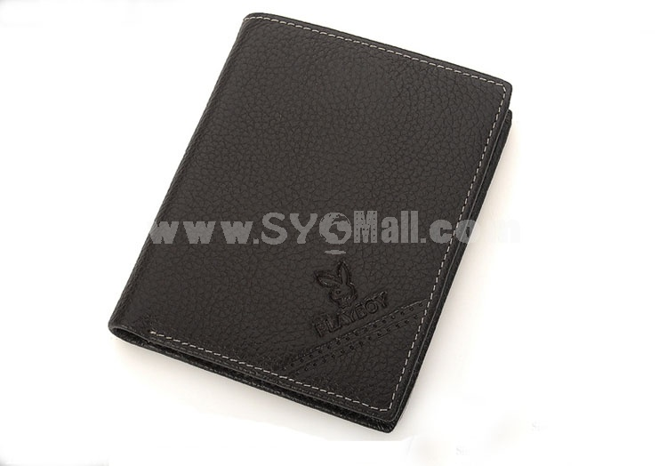 Playboy Men's Short Leather Wallet Purse Notecase PAA5632-3C