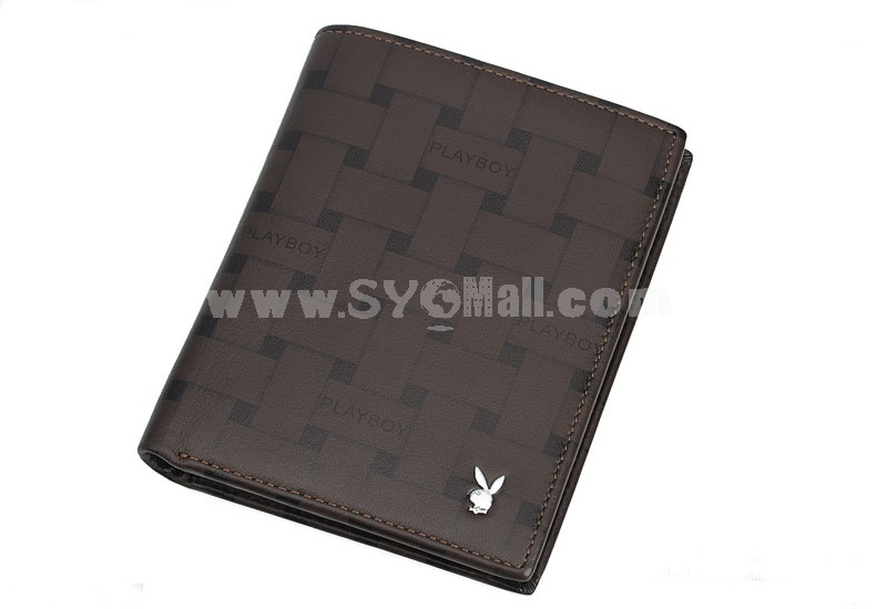 Playboy Men's Short Leather Wallet Purse Notecase PAA2132-11