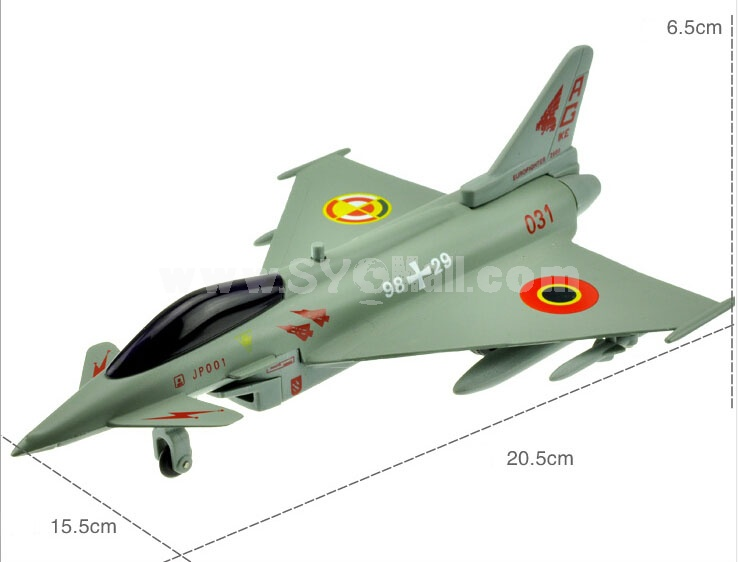 Diecast Metal Fighter Plane Model Aircraft Model with Sound & Light Effect EF-2000
