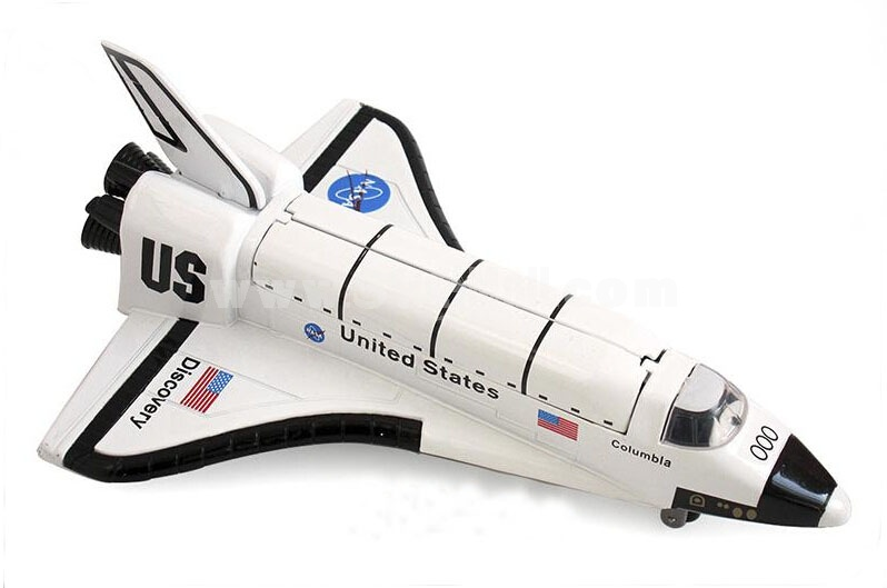 Diecast Metal Fighter Plane Model Aircraft Model with Sound & Light Effect Columbia Shuttle