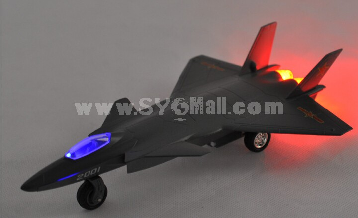 Diecast Metal Fighter Plane Model Aircraft Model with Sound & Light Effect F-20