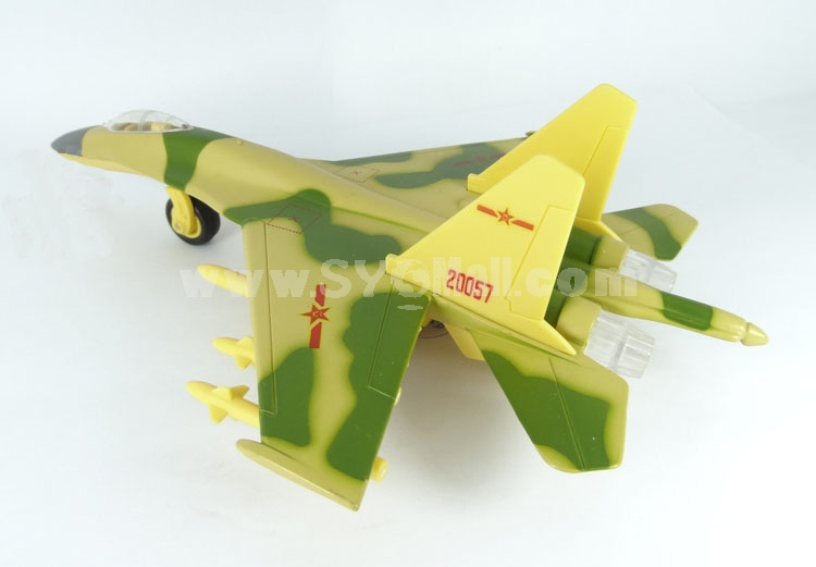 Diecast Metal Fighter Plane Model Aircraft Model with Sound & Light Effect F-11