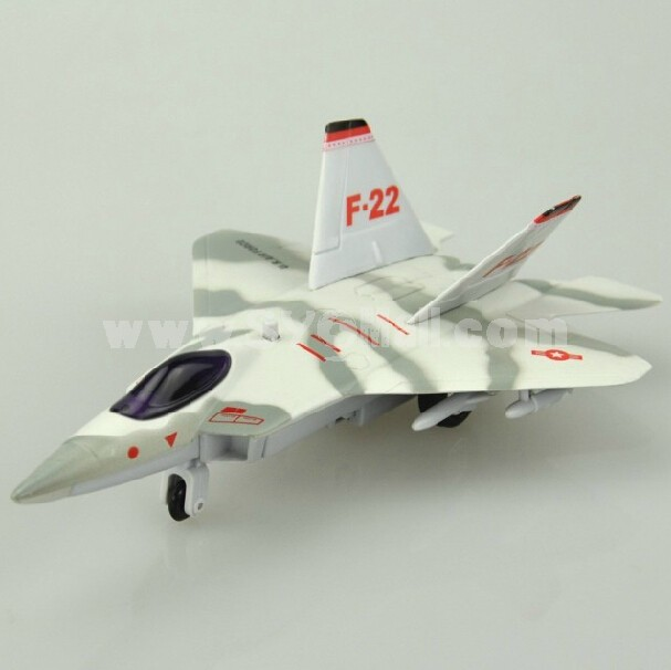 Diecast Metal Fighter Plane Model Aircraft Model with Sound & Light Effect F-22