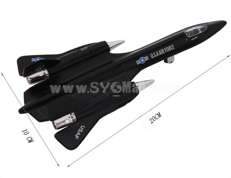 Diecast Metal Fighter Plane Model Aircraft Model with Sound & Light Effect SR-71