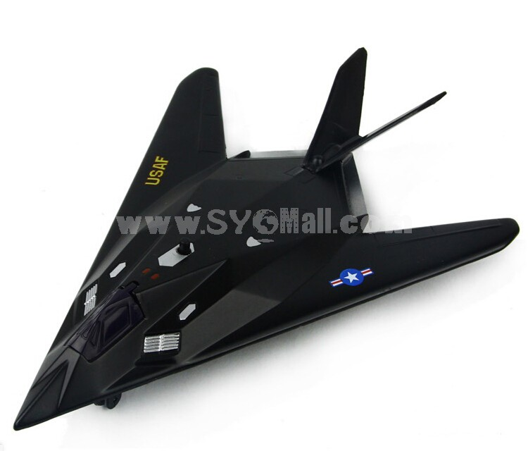 Diecast Metal Fighter Plane Model Aircraft Model with Sound & Light Effect F-117A
