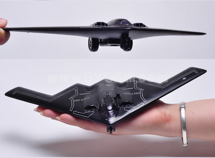 Diecast Metal Fighter Plane Model Aircraft Model with Sound & Light Effect Northrop B-2
