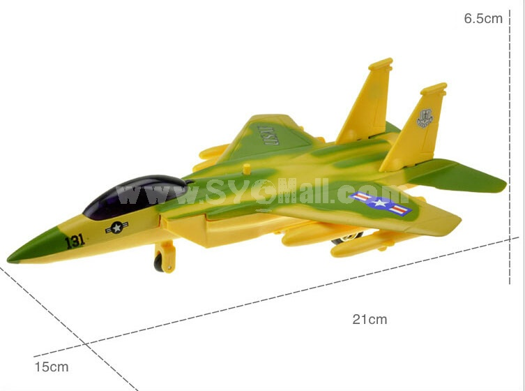 Diecast Metal Fighter Plane Model Aircraft Model with Sound & Light Effect 131 USAF