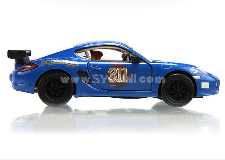 Cayman Diecast 1:32 Metal Model Car with Sound & Light Effect Pull Back