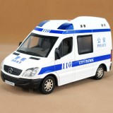 Wholesale - Diecast 1:32 Metal Model Car with Sound & Light Effect Pull Back Police Car