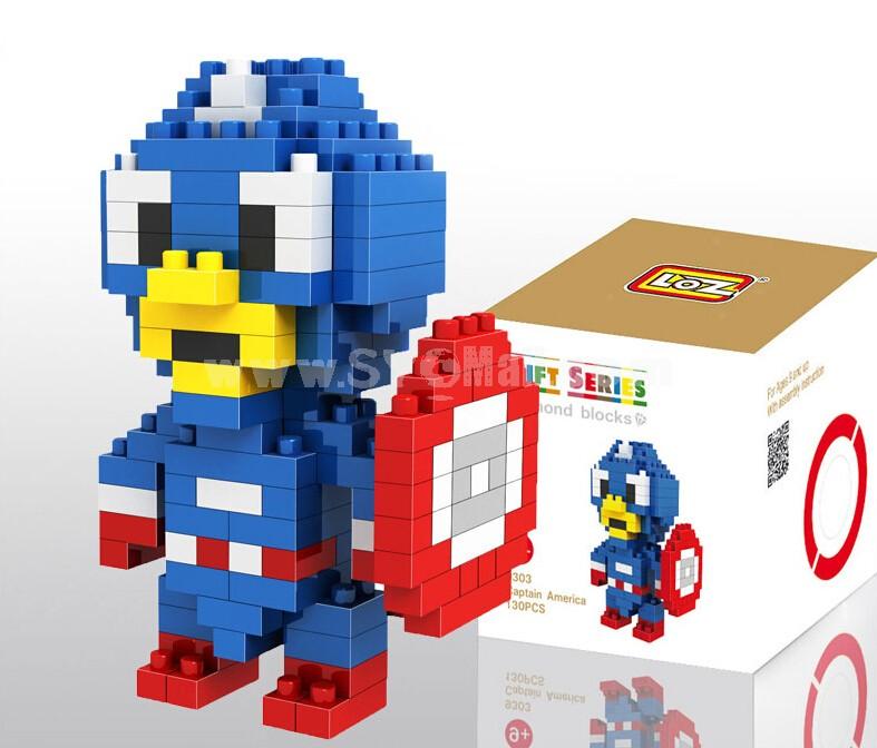 LOZ Diamond Mini Block Toys Cute Cartoon Toys Action Figure - CAPTAIN AMERICAN