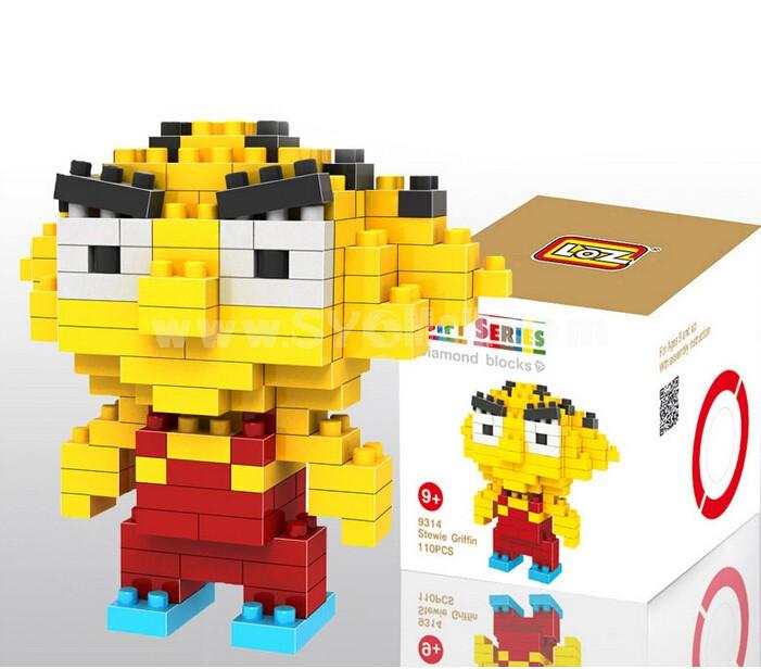 LOZ Diamond Mini Block Toys Cute Cartoon Toys Action Figure - STOWLE GRIFFIN