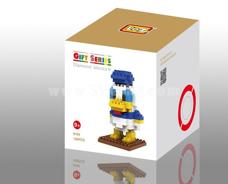 LOZ Diamond Mini Block Toys Cute Cartoon Toys Action Figure - BOY DUCK