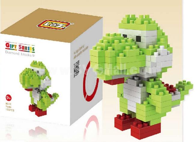 LOZ Diamond Mini Block Toys Cute Cartoon Toys Action Figure - YOSHI