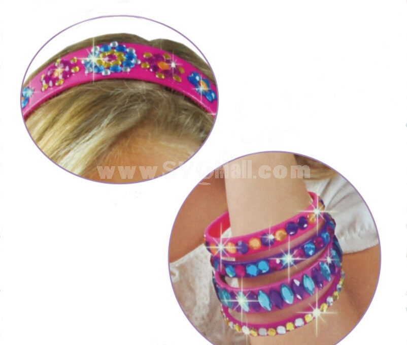 DIY Sticking Style Sparkle Bands and Bangles
