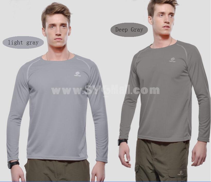 Men Waterproof Breathable Light Quick-Dry Long Sleeve Shirt