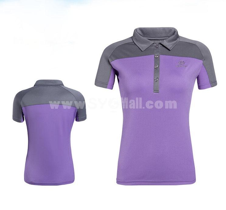 Women Breathable Light Quick-Dry Short Sleeve Polo Shirt 304