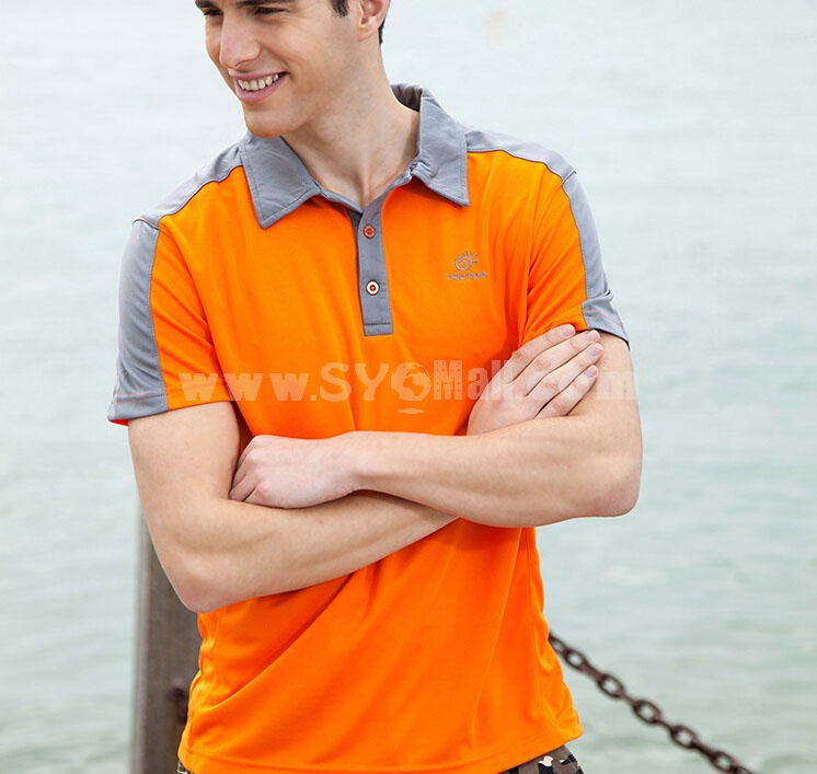 Men Breathable Light Quick-Dry Short Sleeve Polo Shirt 3045