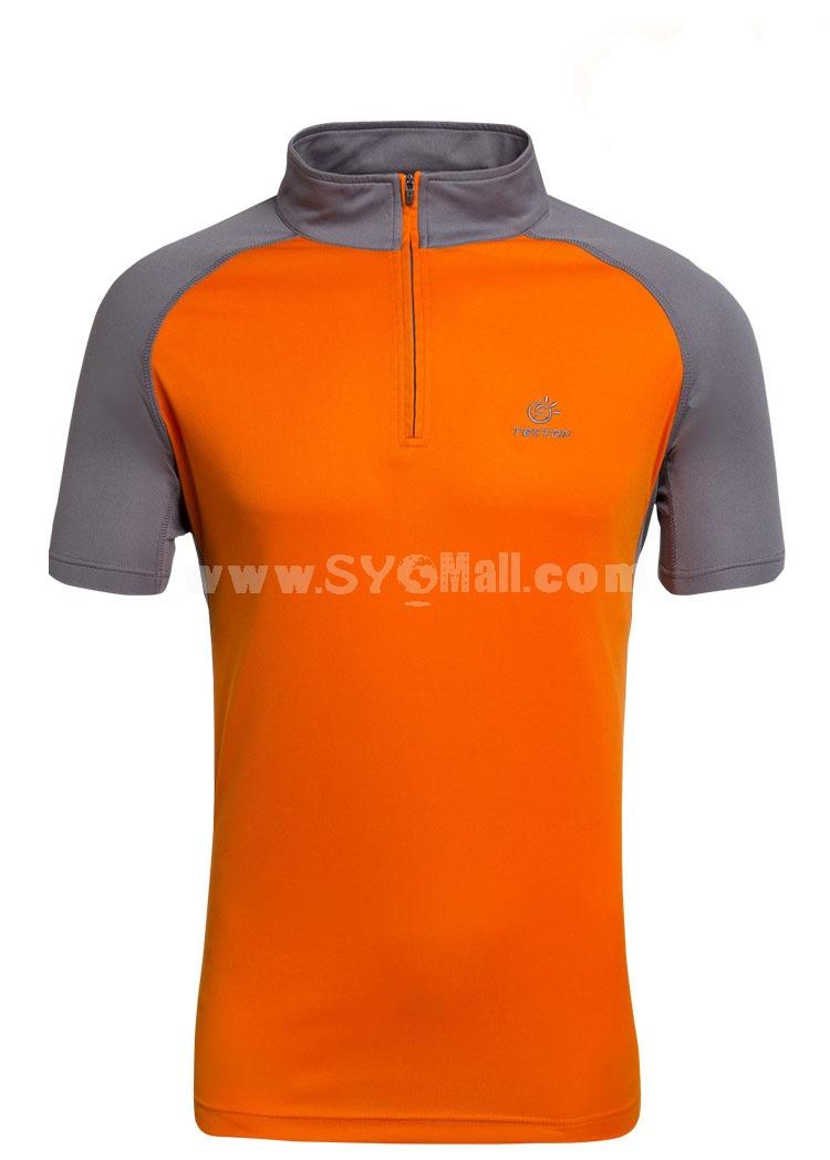 Men Breathable Light Quick-Dry Short Sleeve Shirt 3057