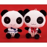"wholesale - Cute Lovers Gentleman Panda Plush Toy with Red & Blue Tuxedo 31cm/12.2"" 2pcs/Lot"
