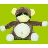 "Wholesale - Cool Spactacles Monkey Plush Toy 28cm/11.0"""